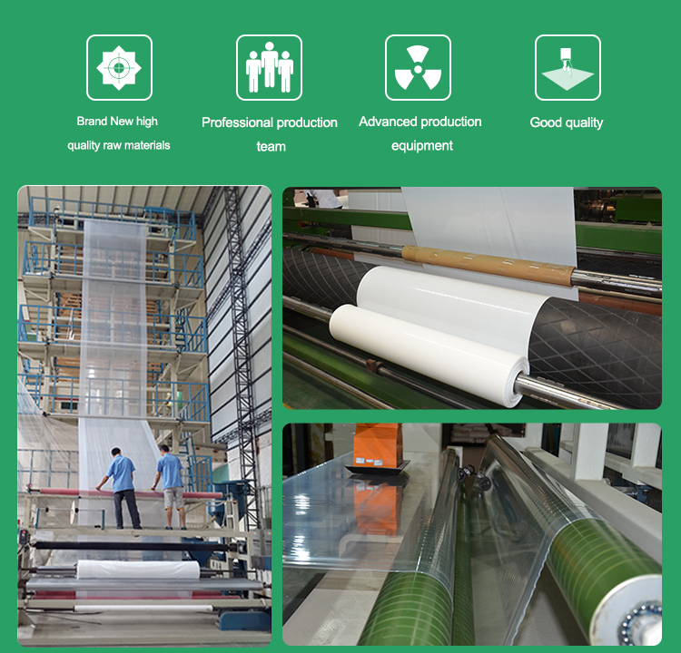 Thicken 200micron vegetable planting greenhouse plastic film