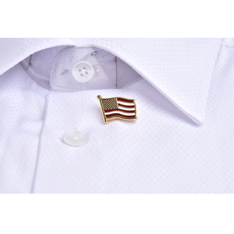 Promotion Metal Custom Nation Pattern American Country Flag Lapel Pins Wholesales Safety Pin Brooch