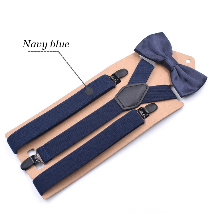 Adult three-clip Y-type straps bow tie suit elastic straps and suspenders