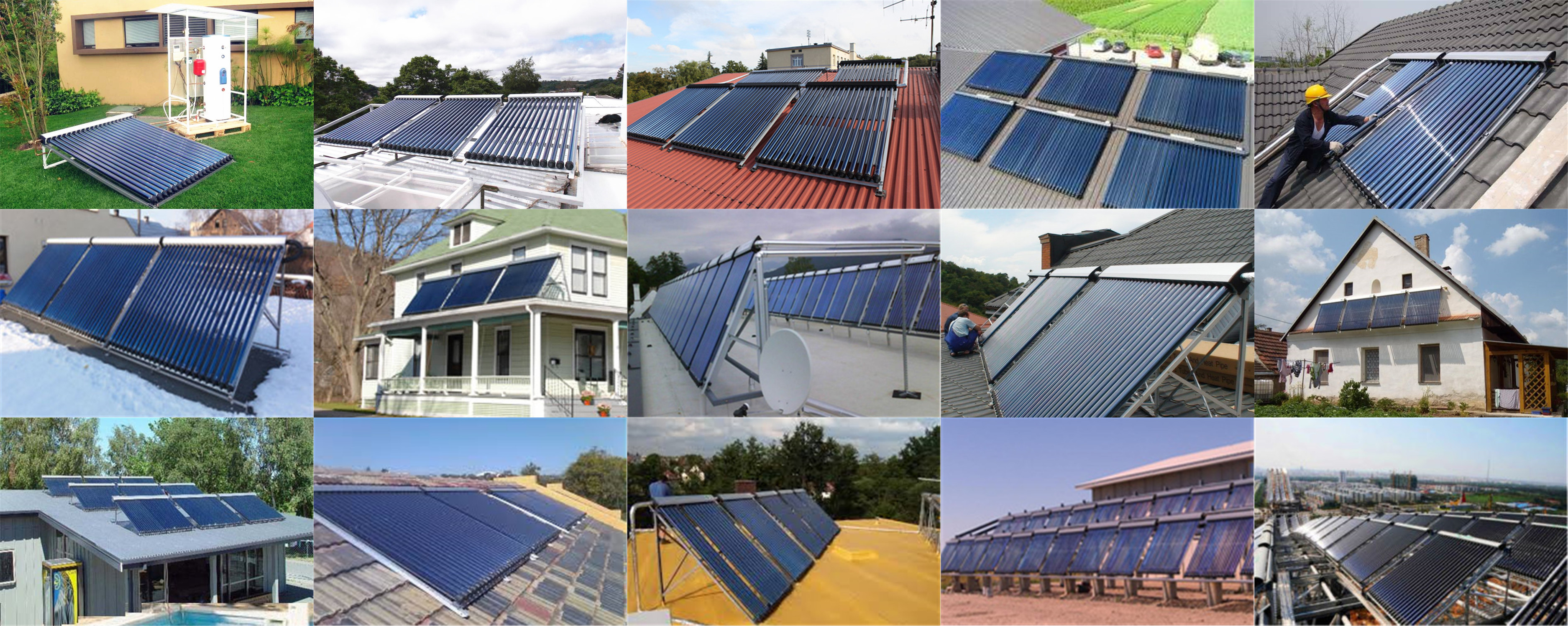 Widely use separated solar water heater heat pipe collector