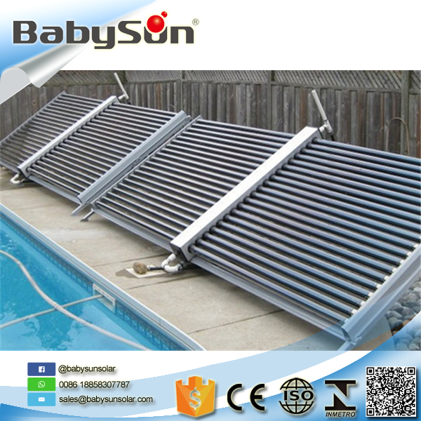 Split single wing solar water heater, vacuum tube solar collector