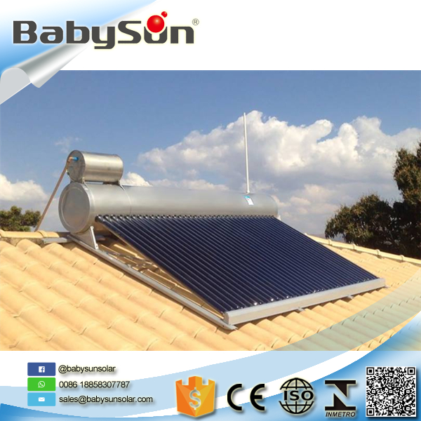 Cost-effective split evacuated tube SUS304 stainless steel solar water heater