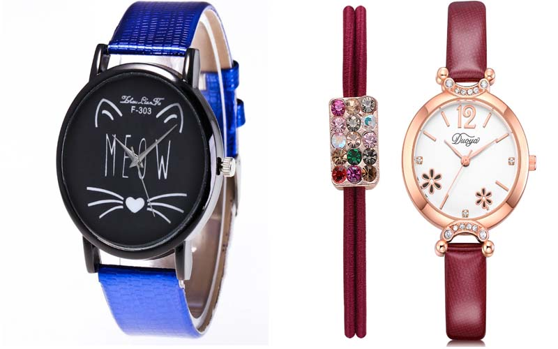 Luxury stones Bling Double Dual Rhinestone Gold Silver Rose gold HipHop Wrist Watch