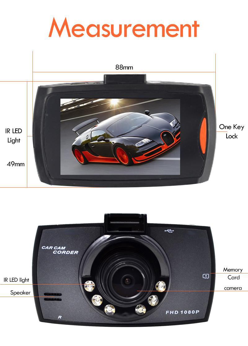 Full HD 2.7 LCD 1080P Original G30 Car DVR dash cam Camera Night Vision Vehicle Traveling Date Recorder Tachograph mini 500Mega