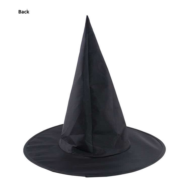 Halloween Cheap Party Accessories Children's Cosplay Black Witch Wizard Hat For Adult
