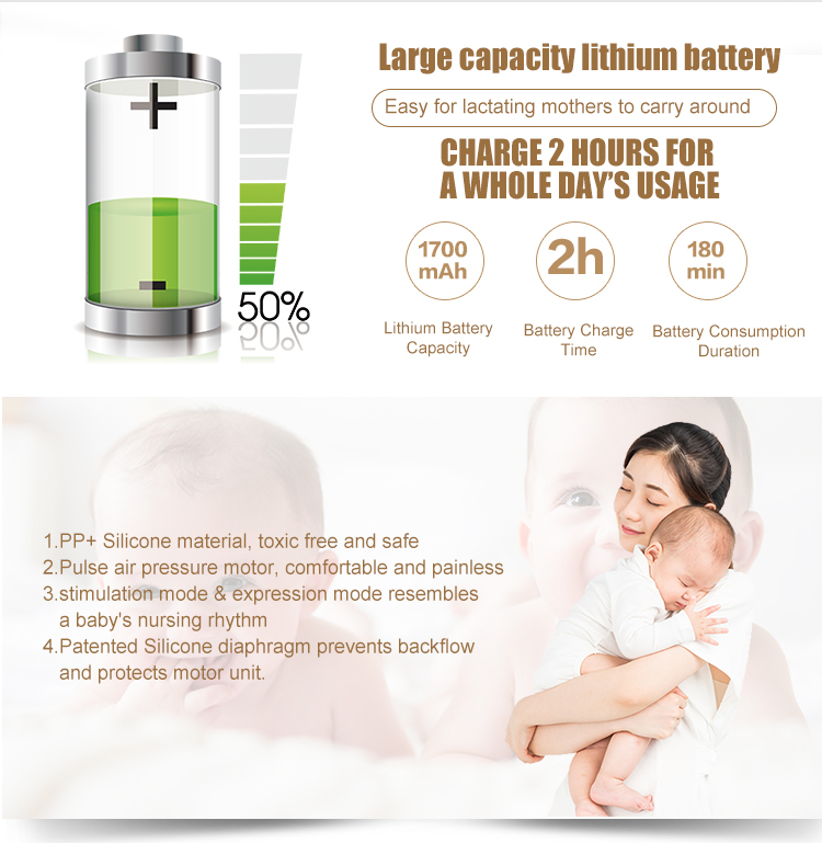 CE Certification Baby Shops Breast Pump Electric Portable