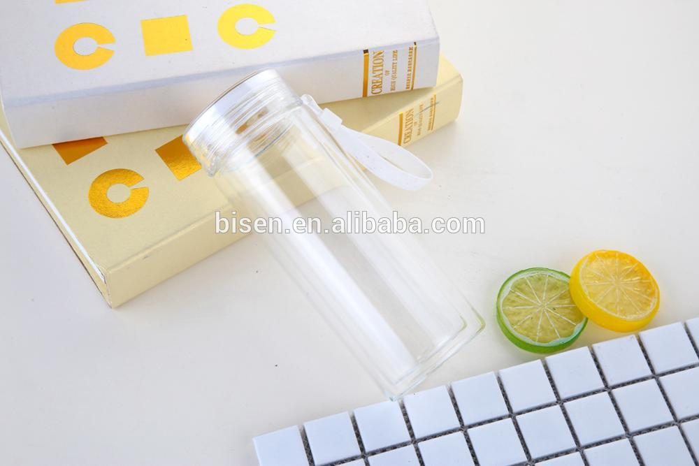 Creative fashion space cup students exercise portable glass water bottle