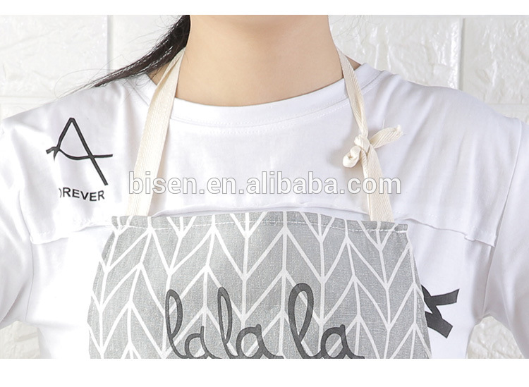 Wholesale High Quality 100% Cotton Canvas Kitchen Aprons with logo