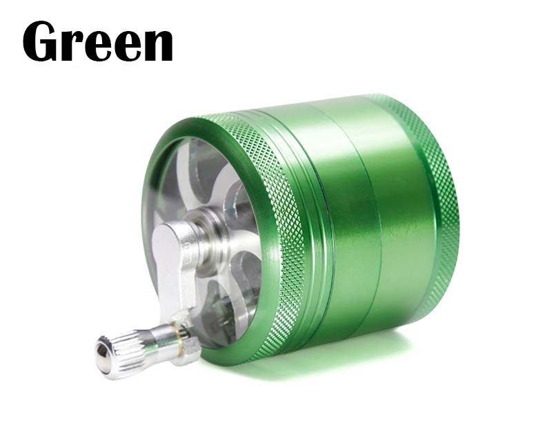 Metal 4 Pieces 55mm Diameter Grinder Tobacco Herb Grinder