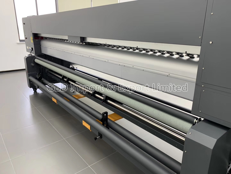 Guangzhou S8 Model 3.2m Large Format Solvent Printer 10ft Flex Banner Inkjet Machine with 8 pieces pcs KM1054i 30 pl PrintHead