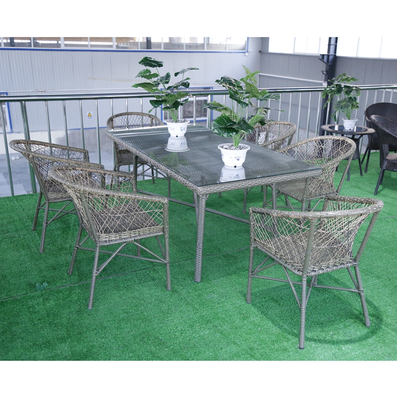 High sales in China factory prices outside rattan sofa table chairs
