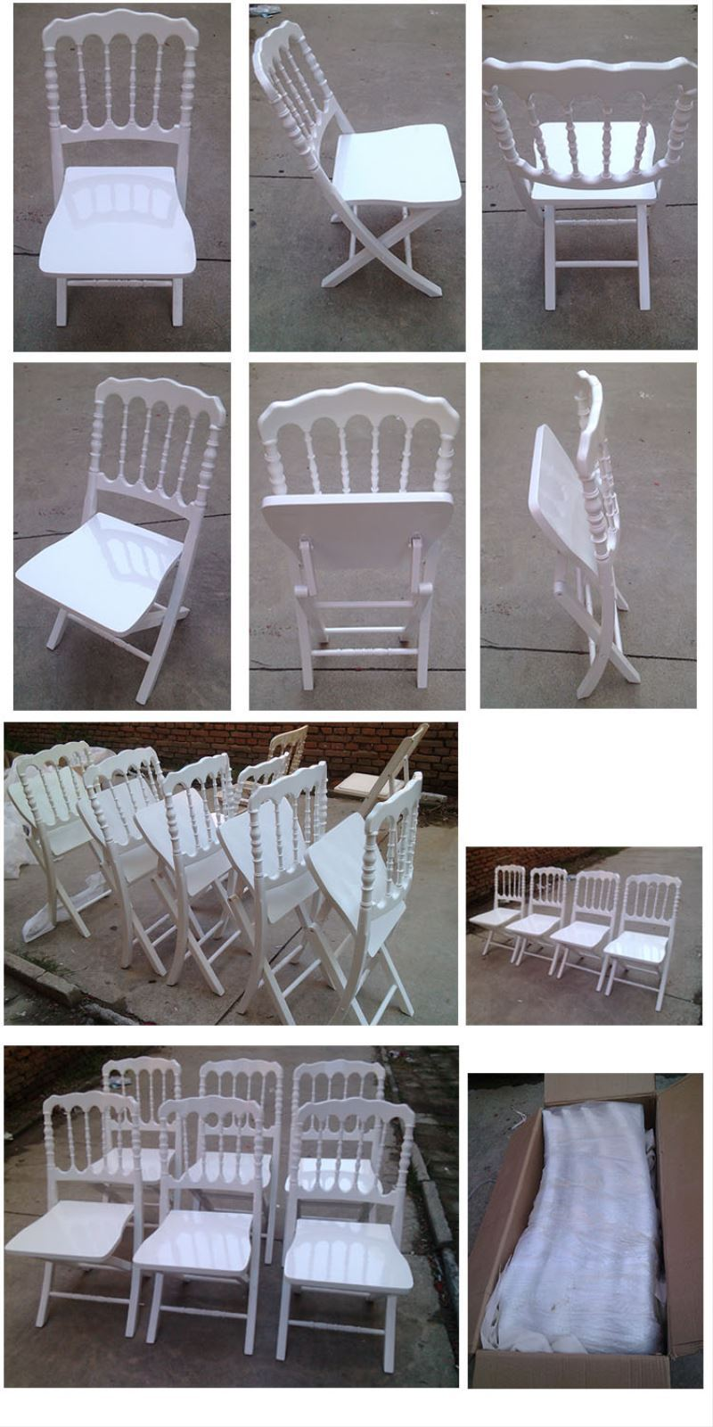 solid wood dining chairs rental event folding chair for Party and Wedding