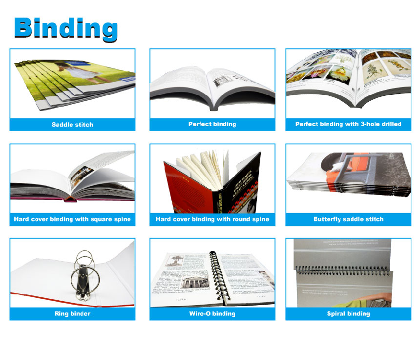 full color high quality online book printing binding