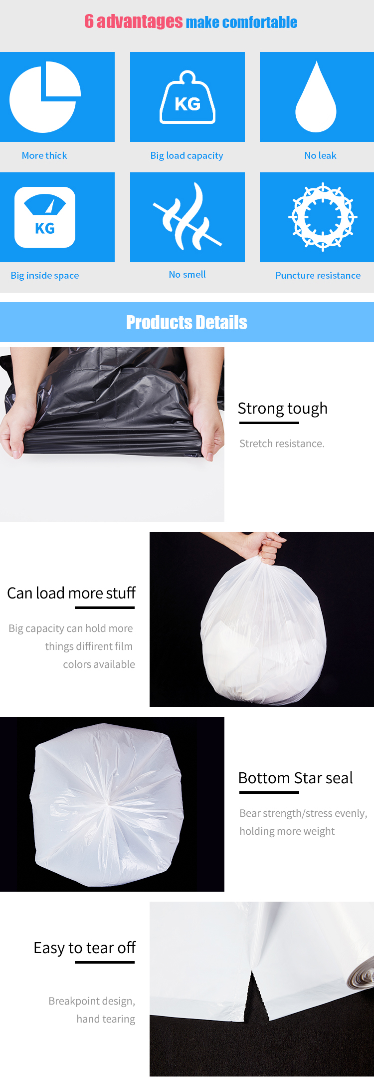 China Supplier Eco Friendly Biodegradable Plastic Bags at Wholesale Price
