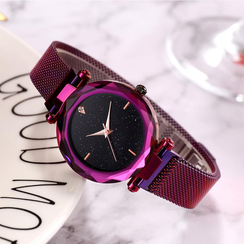 Hot-selling Romantic Star Women's Watch Color Electroplated Fine Watchband Watch
