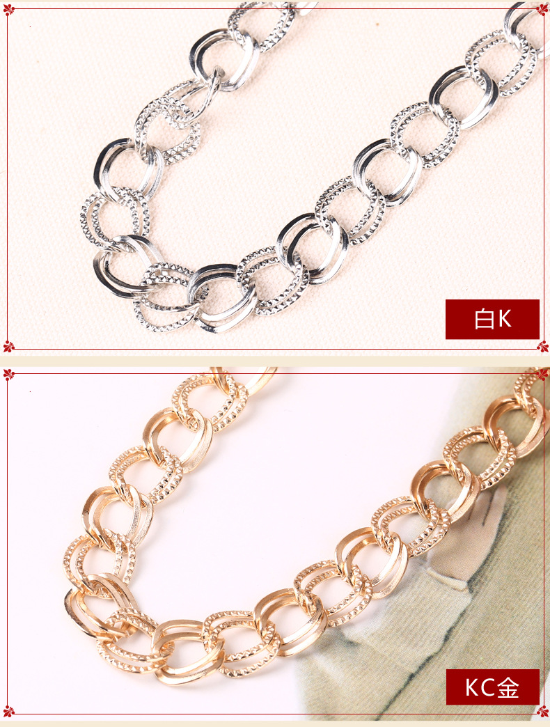 Metal chain for bag handle purse chain