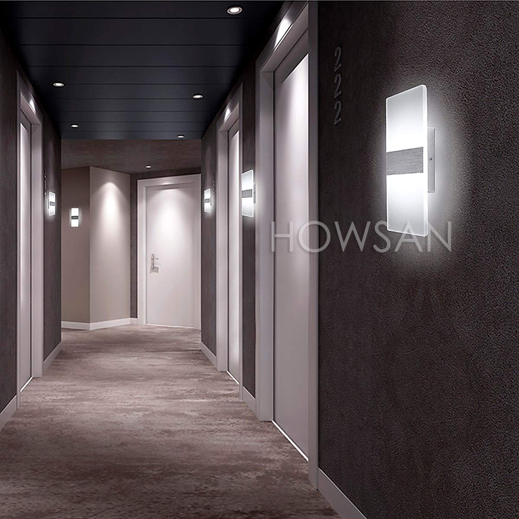 Hot Sale Decorative Lighting Modern Clear Acrylic Fancy Wall light for Hotel