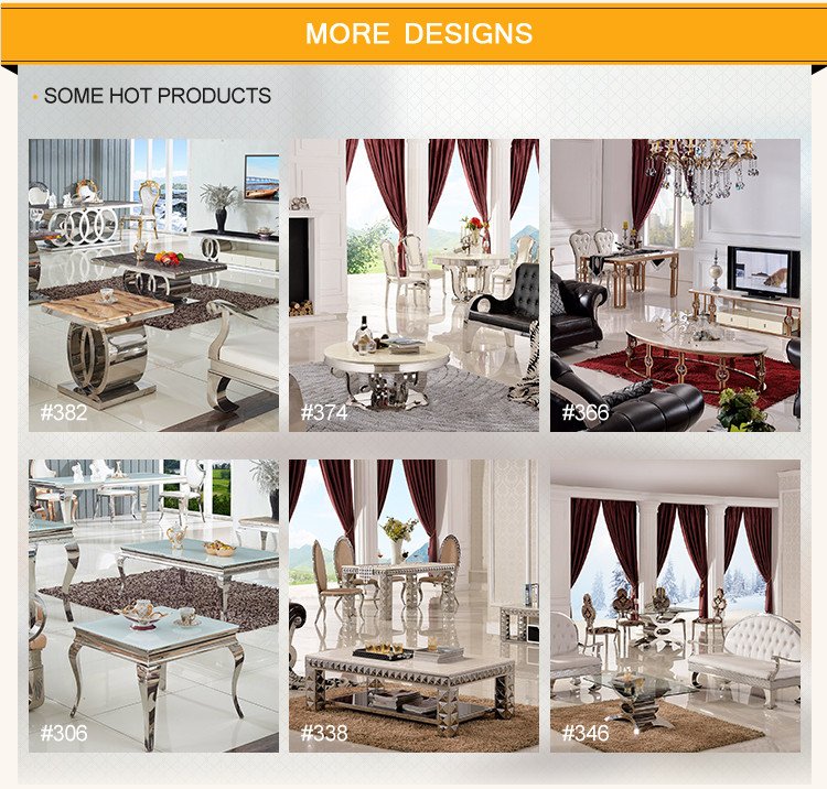 wholesale modern stainless steel glass console table
