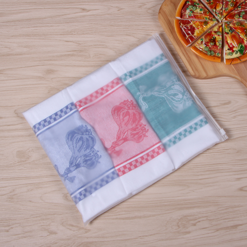 Doctorhome 100% cotton yarn-dyed jacquard vegetable pattern tea towel for kitchen